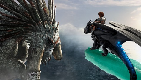 Hiccup and Toothless face off against Drago's Bewilderbeast